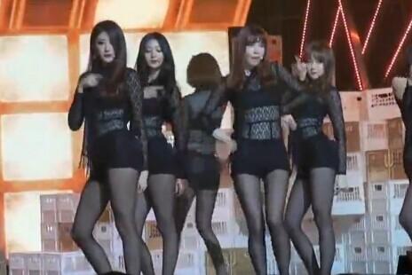 韩国女团 Nine Muese 长腿黑丝 热舞