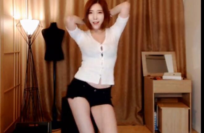 韩国主播 米娜 白衣短裤热舞