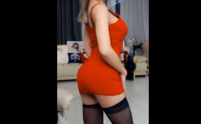 韩国主播 许允美 红色包臀裙 黑丝 热舞