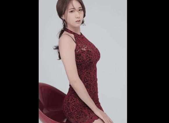 韩美女车模 申惠罗 包臀裙前凸后翘