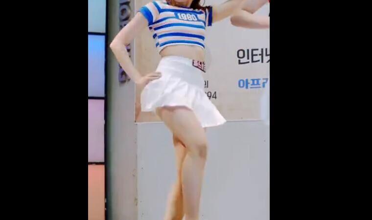 韩国女团  东大门 GMC 白色小短裙 性感热舞