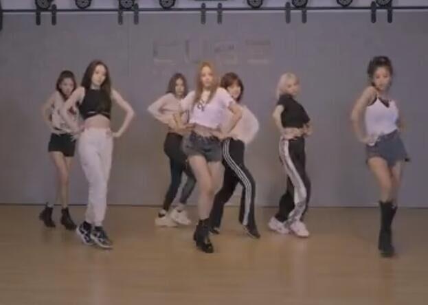 韩国女团 CLC 回归舞蹈练习室 全是大长腿
