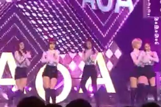 韩国女团 AOA 美腿 长靴+短裤 热舞
