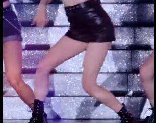 韩国女团 CLC  张睿恩  小皮裙 热舞 饭拍视频