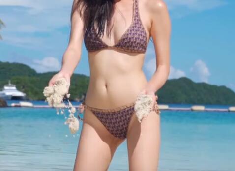 韩国美女 海边 比基尼 写真