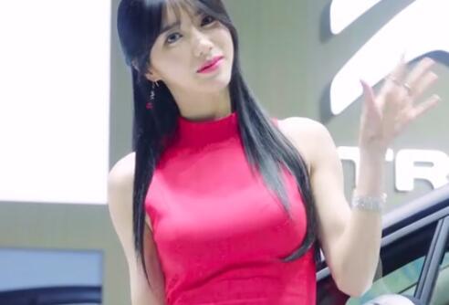 韩国2019首尔车展  美女模特 林率雅 可爱