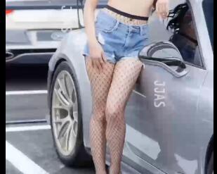 韩国车模 小姐姐短裤+网丝 性感