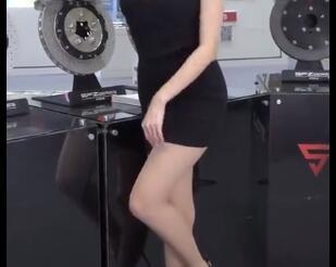 韩国美女车模 肉丝+包臀裙 性感无比