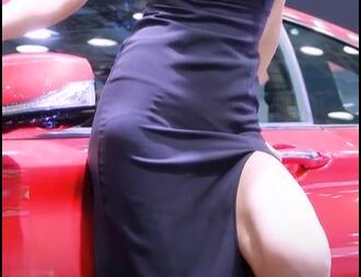 韩国美女车模 柳多妍 黑色系列