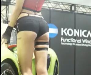 韩国车展 许允美 齐B短裤 还是哪么美