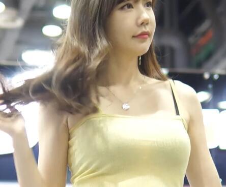 汽车沙龙赛车,韩国美女模特 洪智妍 小姐姐