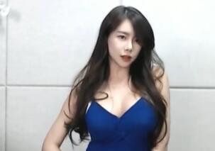 韩国女主播 深V+包臀裙 热舞