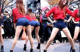 韩女团EXID朴正花街头热舞视频美腿白花花 EXID-上下