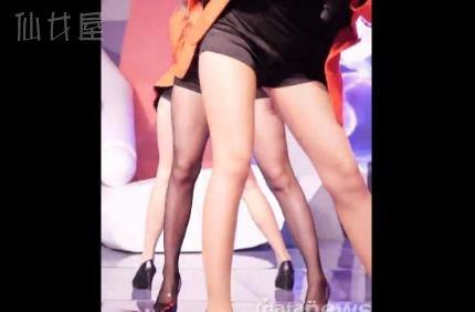 黑丝热裤美腿 赵贤荣热舞饭拍 Rainbow-MACH @STV 141226